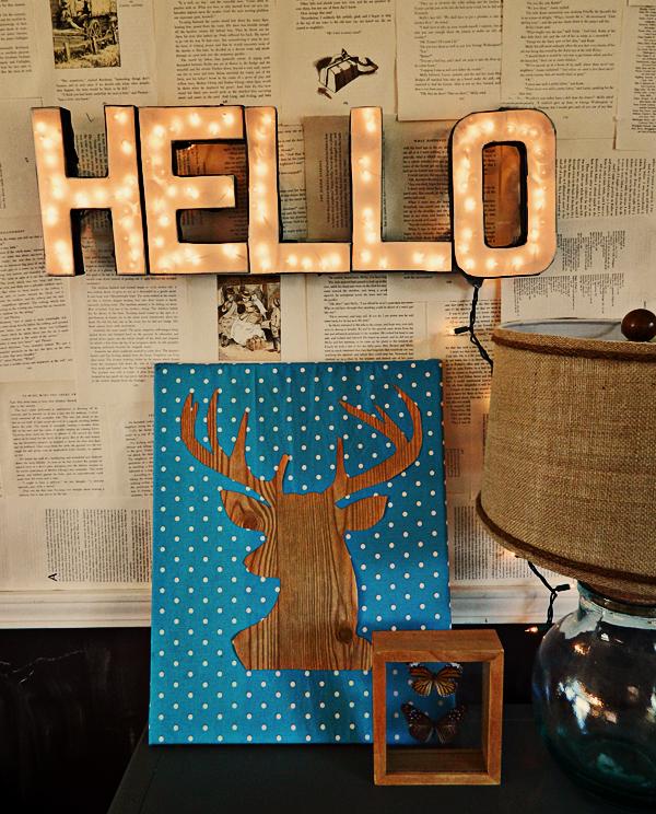 DIY Lighted Letter Sign 1