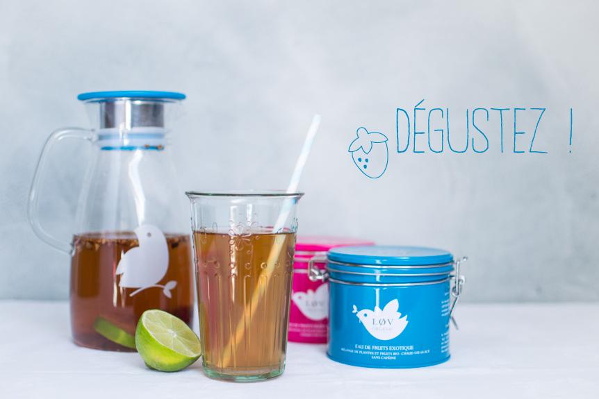 Lov Organic iced tea