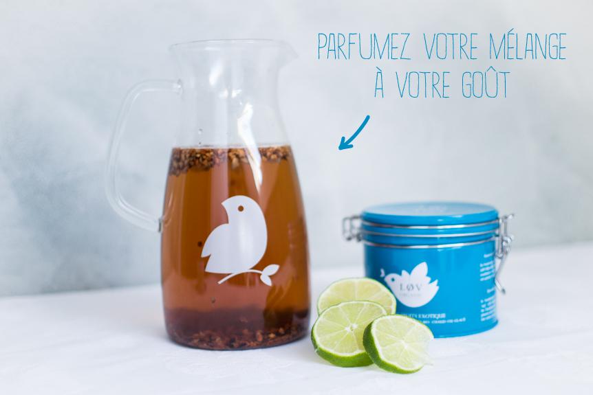 Thé glacé Lov Organic recette