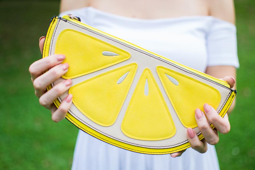 pochette citron new look