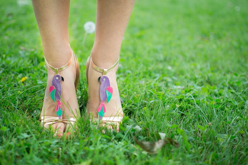 sandales perroquet