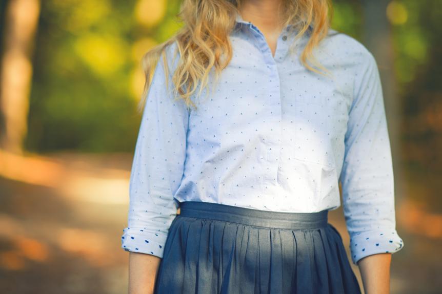 chemise zara ancres mini