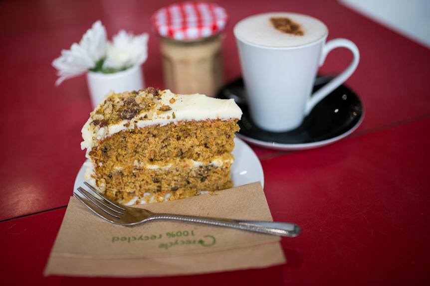 nest café brighton carrot cake