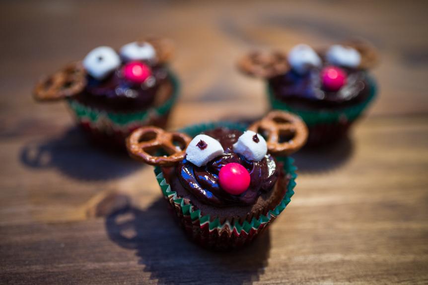 cupcakes rudolph