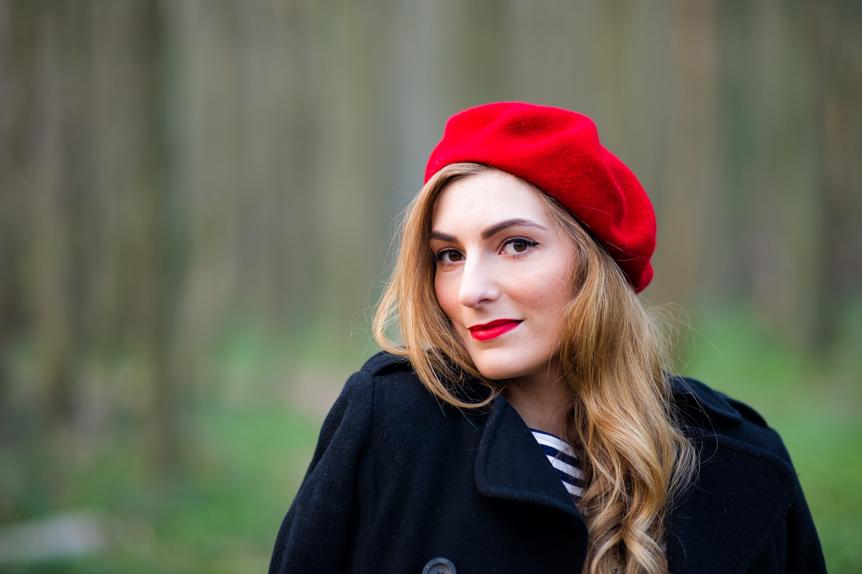beret rouge marinière
