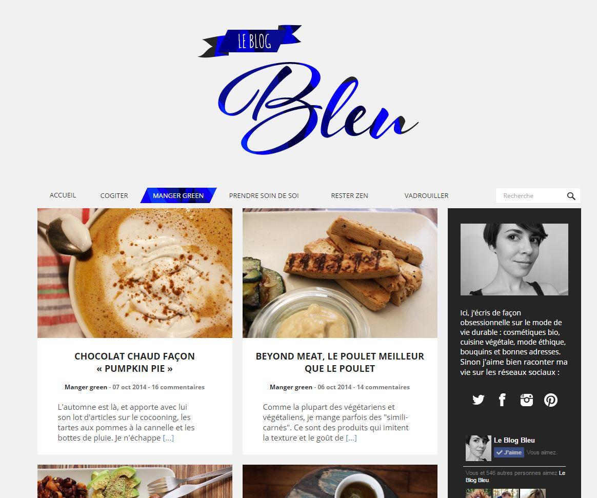 Le blog bleu