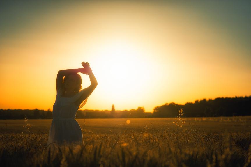 golden hour soir d'été