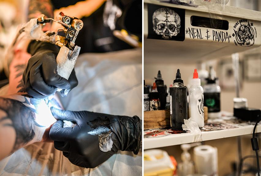 couvrir des lettres en tatouages