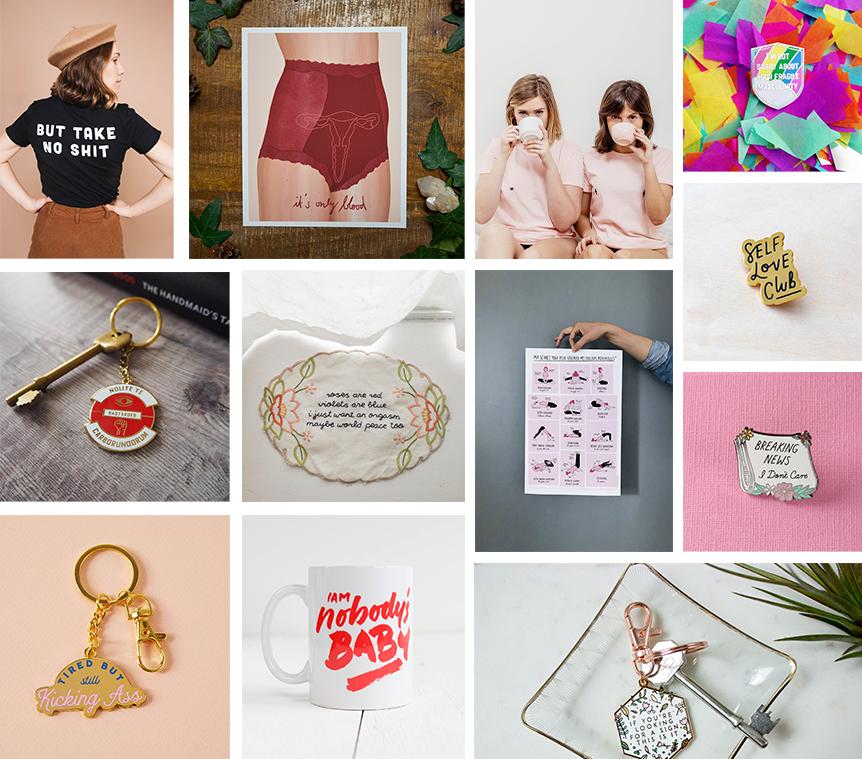 idées cadeaux Etsy Noël féministe