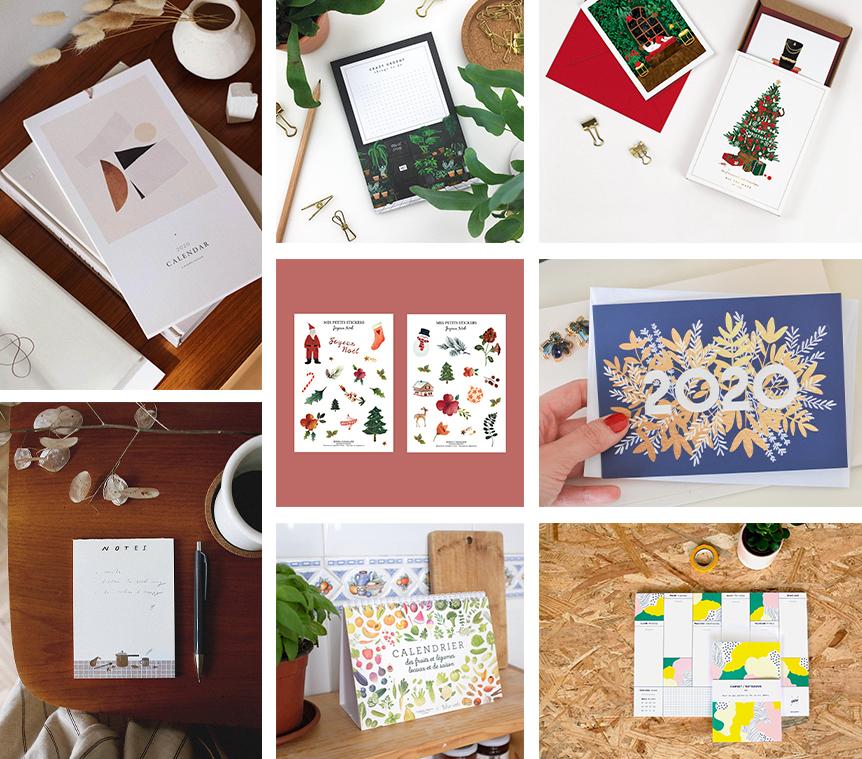 idées cadeaux Etsy Noël papeterie