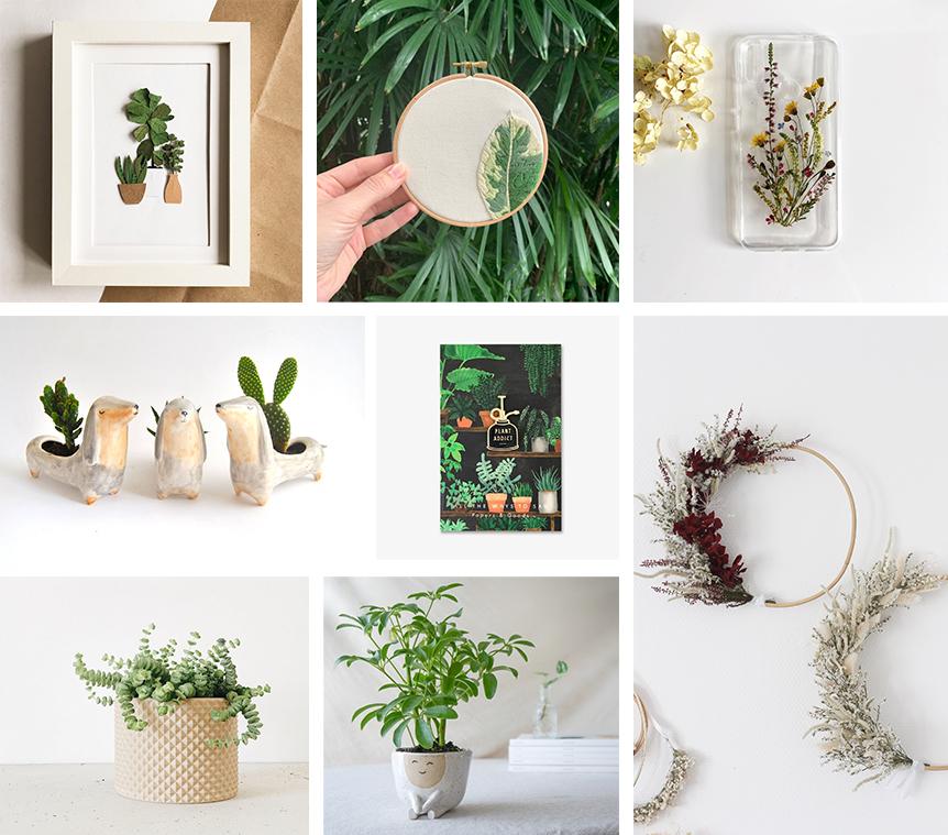 idées cadeaux Etsy Noël plant lovers