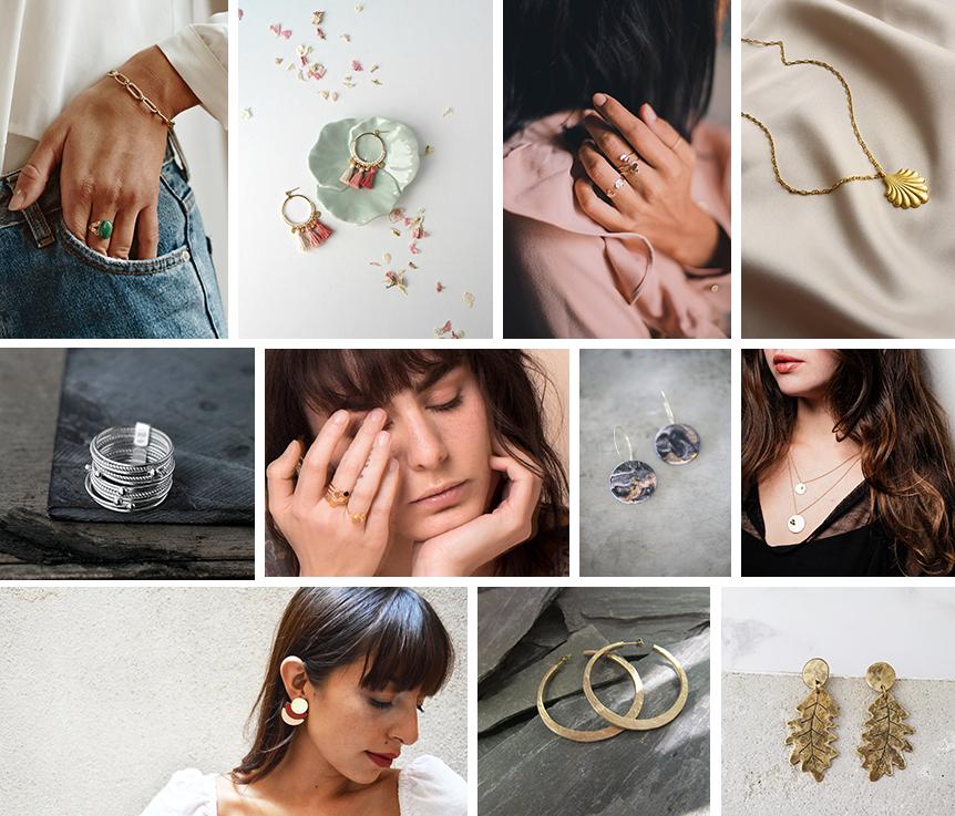 Idées cadeaux Noël Etsy bijoux